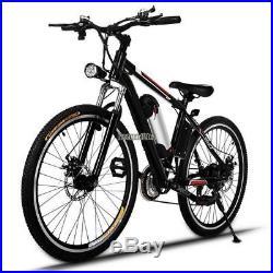 25 MTB Mountain Bike Electric Bicycle 21 Speeds 36V Lithium E-bike to 35km/h
