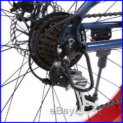 26 Men's 7-SP Fat Tire Mountain Bike Fat Bike Snow Sand Bicycle Fatbike