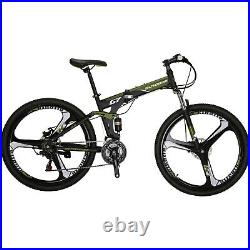27.5 Folding Mountain bike Disc Brake Full Suspension 21 Speed Men Bicycle