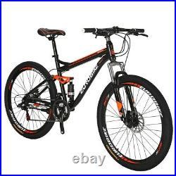 27.5 Full Suspension Mountain Bike Shimano 21 Speed Mens Bicycle
