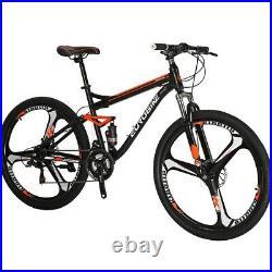 27.5 Full Suspension Mountain Bike Shimano 21 Speed Mens Bicycle Disc Brakes