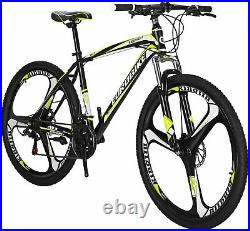 27.5 Mountain Bikes 21 Speed Bicycle Dual Disc Brakes Front Suspension Mens MTB