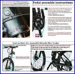 27.5 Mountain Bikes 21 Speed Bicycle Dual Disc Brakes Front Suspension Mens MTB
