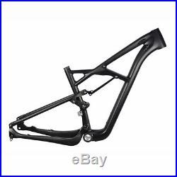 29er Full Suspension Frame Carbon MTB Mountain Bike Frame 15/17/19 BSA Matte