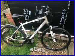 Adult Carrera mountain bike hybrid suspension White disk brakes mens womans