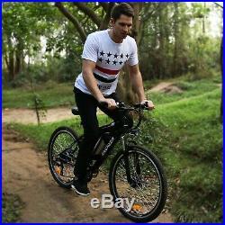 Ancheer 26'' Electric Bike Ebike Mountain Bike City Cycling 21Speed 36V Black