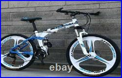 Bike 21 Speed 26 Wheel Mtb Aluminum Frame Full F/r Suspension Mountain Bicycle
