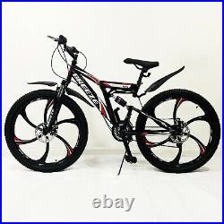 Breeze Men Women 21 Speed 26 Mtb Frame Full Suspension Mountain Bike Bicycle