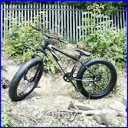 Breeze Men Women Fat Tire 7 Speed 26 Mtb Full Suspension Mountain Bike Bicycle