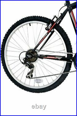 Colorado Denver 26 Inch Mens Front Suspension Mountain Bike Black / Red