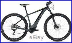 Cube Reaction Hybrid SLT 500 Mens Electric Mountain Bike 2018 Grey