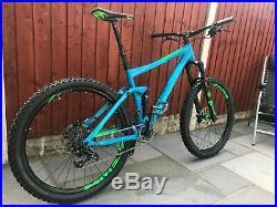 Cube Stereo 140 HPA 27.5 Blue/Green 2017 Model 20 Full-Suspension Mountain Bike