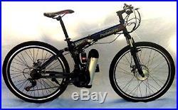 Electric bike folding full size mountain bike