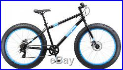 FAT TIRE BIKE Mens 26 Mongoose Dolomite 7 Speed Mountain Bicycle Blue NEW
