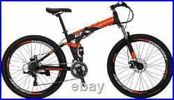 Folding Bike Full Suspension Mountain Bike Shimano 21 Speed Mens Bicycle 27.5