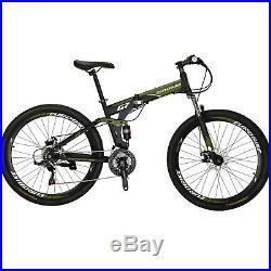 Folding Mountain Bike 27.5 Full Suspension 21 Speed Disc Brake Mens Bicycle mtb