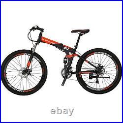 Full Suspension Folding Mountain Bike Shimano 21 Speed Mens Bikes Bicycle 27.5