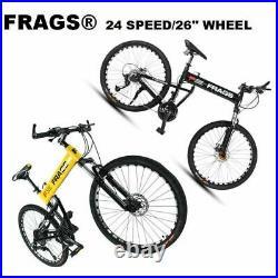 Full Suspension Mountain Bike/Bicycle Men/Women 24Speed26 Wheel MTB Frames