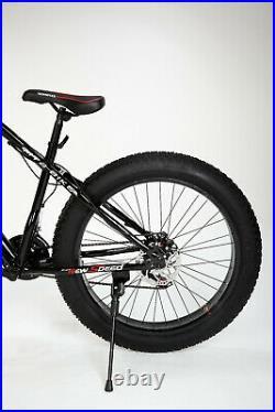 Full Suspension Mountain Bike Bicycle Men/Women Fat Tire 26 MTB BLACK