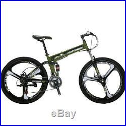 G4 26 Full Suspension Folding Mountain Bike 21 Speed Bicycle Men or Women MTB