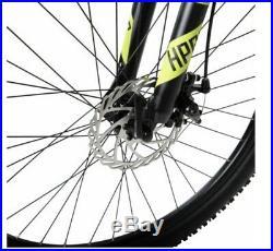 Hyper 26 Carbon Fiber Men's Mountain Bike, Black/green Distressed Pkg