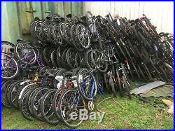 Job lot of 50 Adult Ladies Mens mountain bikes bicycles for spares or repair