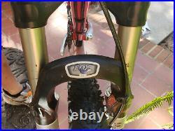 Lapierre XRace 300 Full Suspension Mountain Bike Fox Medium M Red NICE CONDITION