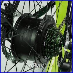 Men Mountain Bike Fat Tire Electric Bike 7 Speed 500W 48V Lithium Battery XF660