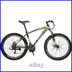Mens Mountain Bike 27.5 Shimano 21 Speed Disc Brake Bicycle Front Suspension