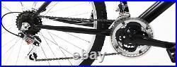 Mens Mountain Bike Bicycle Excel 26 Wheel 18 Frame 21 Speed Black Red