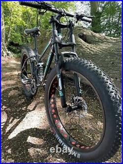 Mountain Bike Fat Tyre Bicycle Full Suspension Softail Black