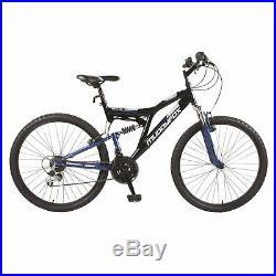 Muddyfox Mens Recoil26 Dual Suspension MTB Mountain Bike 26 Wheels 18 Speed