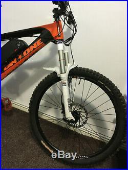 On One carbon fibre electric Mountain bike, 1500w 40+ MPH