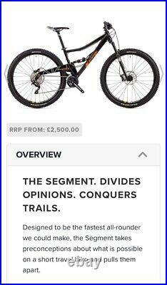 Orange Segment 29er Full Suspension Mountain Bike STUNNING SPEC