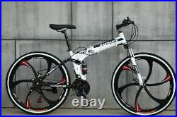 Road Mountain Folding Bike /Bicycle 21Speed 26 & 24 Wheel Stylish Carbon Frame