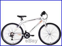 Tiger Hazard Mens Gents Mountain Bike MTB White 26 Wheels 18 Speed 4 Sizes