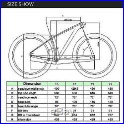 UD Matt Full Carbon Bike Frame Fiber 14212mm Mountain MTB 29er Bicycle Frames