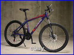 Unisex Mountain Bike Bicycle Hybrid 26 Men Women Shimano 21 Speed 17 Frame