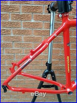 VGC Cannondale F700 20 large mountain bike MTB frame with F2000 decals